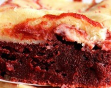 cheesecakes brownies rouges