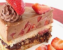 gateau fraises chocolat brunch