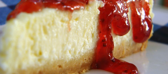 cheesecake vanille coulis fraises
