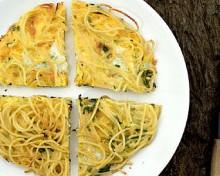omelette spaghettis