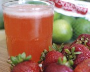 strawberry agua fresca cocktail