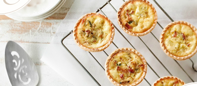 quiches pommes bacon