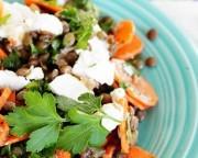 salade lentilles chevre