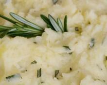 Puree pommes de terre chevre romarin brunch